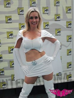 Tanya Tate Sexy Emma Frost Movie Cosplay Marvel Comics X-men First Class Model Female Girl Woman61