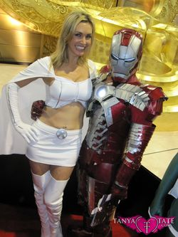 Tanya Tate Sexy Emma Frost Movie Cosplay Marvel Comics X-men First Class Model Female Girl Woman39