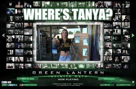 Tanya Tate, Green Lantern, Movie, Official, Website, Infinite, Oath, Video