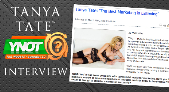 Tanya Tate, Ynot, Exclusive, Interview, Social Media, Marketing, Adult Star, Adult Actress, UK model, Award Winner, SHAFTA, MILF of the Year, Facebook, Twitter, Pinterest, Youtube, TanyaTate.com