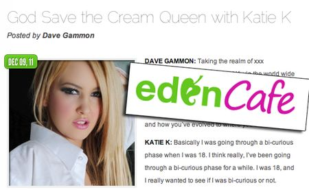 Katie K, Eden Cafe, KatieKOfficial.com, British adult star, pornstar, model, glam star, interview, exclusive, behind the scenes, actress, adult actress
