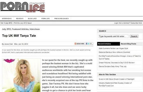Tanya Tate Porn Life Magazine
