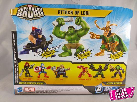 superhero squad, Marvel, avengers, avengers movie, Tanya Tate, Ironman, black widow, Capt. America, Hulk,Thor, Loki,  comic book, geek, nerd, review, action figure, Marvel comics, pictures, images, entertainment, collecting, Hasbro, sexy geek girl, JustaLottaTanya.com, Skrull, SHS,  cool, Hawkeye, Nick fury,  shield, superhero,  villain,  repaint, new sculpt