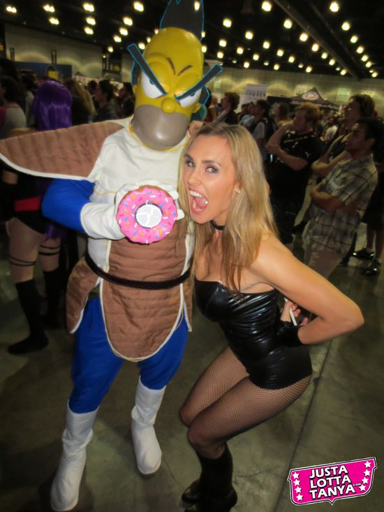 2012, @TanyaTate, Appearance, Birds of Prey, Black Canary, Comic Books, Comic Con, Comikaze, Convention, Cosplay, DC Comics, Download, Expo, Fandom, Free, Geek, JLA, JustaLottaTanya, Justice League, Nerd, Picture, Sexy Cosplay, Sexy Geek Girl, Tanya Tate, Simpsons, Homer Simpson,