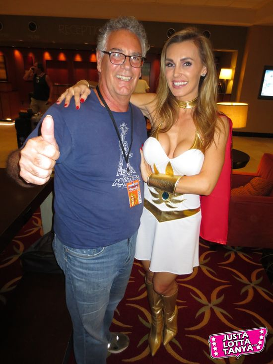Tanya Tate, JustaLottaTanya.com, @TanyaTate, Power-Con, Fangirl, Convention, Expo, He-Man, She-Ra, Masters of the Universe, September 22nd, September 23rd, Torrance Marriott, Cosplay, Princess Adora, Princess of Power, MOTU, POP, Larry DiTillio
