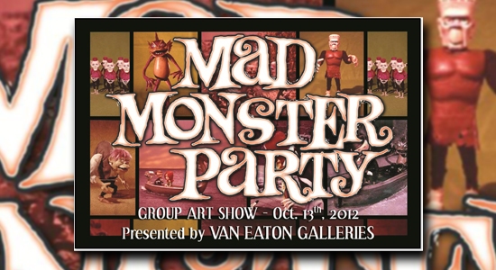 Rankin Bass, Stop Motion, Puppets, Gallery, Los Angeles, Sherman Oaks, Art, Mad Monster Party, Dracula, The Monster, Francesca, October 13th, Van Eaton Gallery, Rick Goldschmidt, Signing, Showing, Horror, Stop-motion, Children's