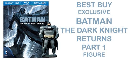 Batman Dark Knight Returns Part 1, Action Figure, Best Buy, Exclusive, DVD, Blu-ray, Packaging, Collectible, Geek,  Nerd, News, Review, Coverage, Batman, Dark Knight, Dc Comics, Animated, Movie, OHV