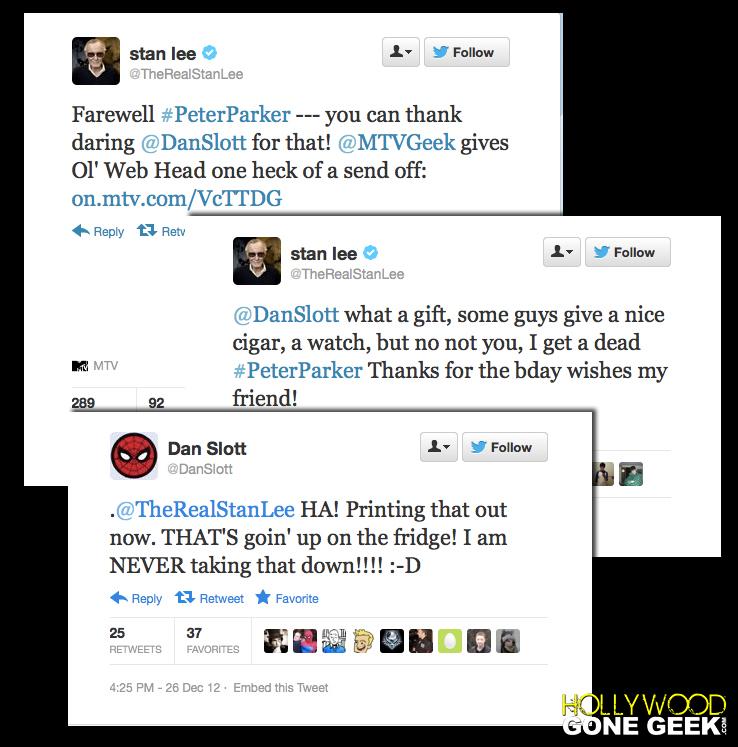 Stan lee Twitter Spiderman Dan Slott 700 Death Peter Parker 21