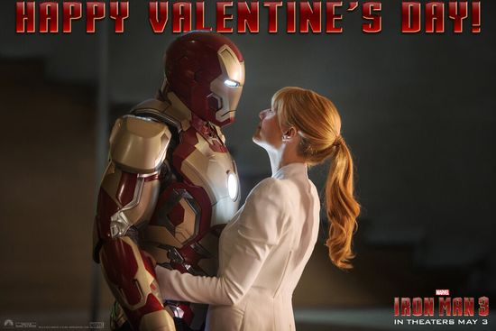 Iron Man 3, Marvel, Valentines Day, Superhero, Entertainment, Hollywood Gone Geek, @HwoodGoneGeek, Iron Man, Tony Stark, Pepper Potts, Gwyneth Paltrow, Robert Downey Jr