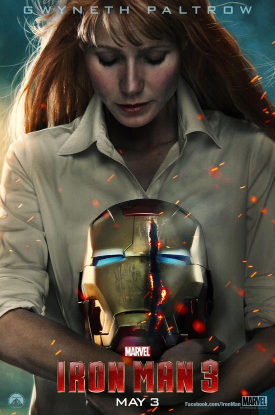 Iron Man 3, Gwyneth Paltrow, Pepper Potts, Marvel, Superhero, HGG, Hollywood Gone Geek, Entertainment, Geek, @HWoodGoneGeek, Reveal, Poster, Tease
