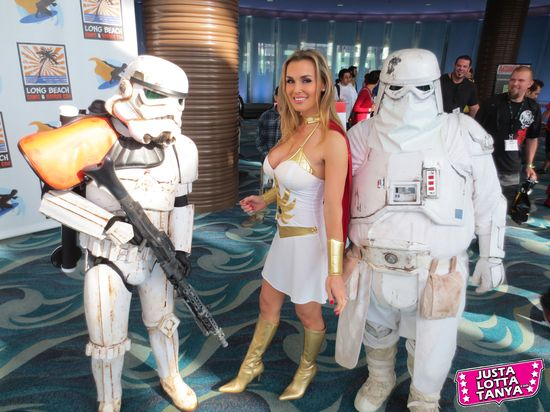 Tanya Tate, @TanyaTate, JLT, JustLottaTanya, She-ra, Long Beach Comic Con, LBCC, Sexy Cosplay, Fangirl, Sexy Geek Girl, Princess of Power, Appearance, Girl, Woman, Cosplay, Fun, Image, Picture, Superhero, Star Wars, Storm Troopers, Snow Troopers, Lucasfilm, Disney
