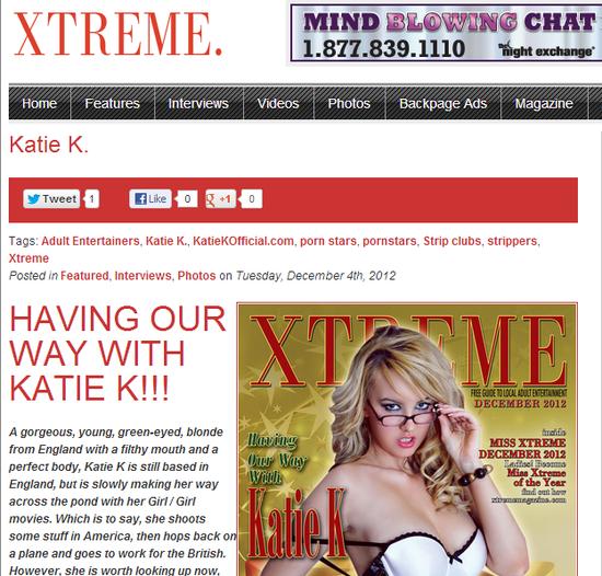Kate K on Xtreme