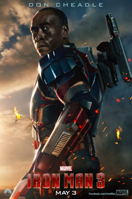 Iron Man 3, Iron Patriot, War Machine, Marvel, Don Cheadle, Poster, Teaser Image, @HwoodGoneGeek, Hollywood Gone Geek, Entertainment, News, Preview, HGG, Marketing