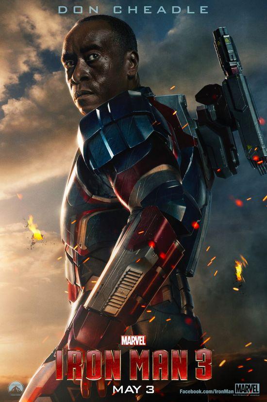 Iron Man 3, Iron Patriot, War Machine, Marvel, Don Cheadle, Poster, Teaser Image, @HwoodGoneGeek, Hollywood Gone Geek, Entertainment, News, Preview, HGG, Marketing