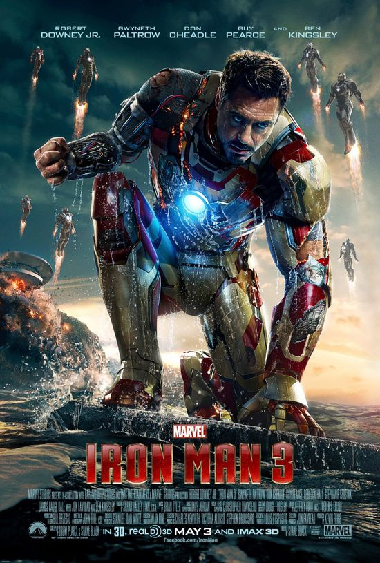 Iron Man 3, Marvel Comics, Poster, Reveal, Entertainment,  Superhero, Robert Downy Jr, Tony Stark, HGG, Hollywood Gone Geek, @Hwoodgonegeek