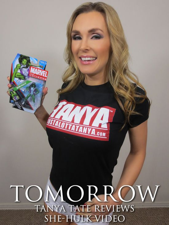 Tanya Tate, @TanyaTate, Marvel Universe, She-Hulk, Action Figure, Review, JLT, Justa Lotta Tanya, Geek, Entertainment, Fangirl, Action Figure, Toys, Video Review