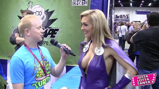 Tanya Tate, @TanyaTate, JustLottaTanya, Badge of Shame, Joe Goes, Joe Hanson, Comedy, Funny, Wondercon, Cosplay, Comic Con, Costume, Superhero, Event, Interview, Video