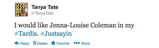 Twitter Tanya Tate Tweet Jenna Louise Coleman 00
