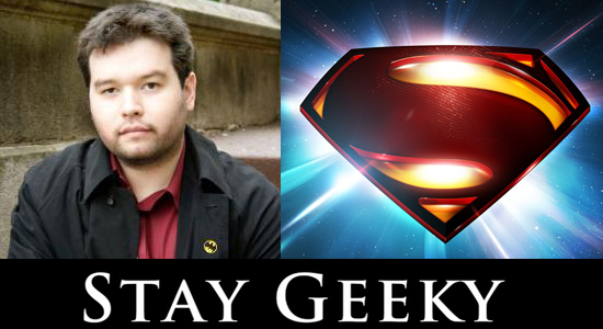 Superman, Man of Steel, Stay Geeky, Dc Comics, Logo, Hollywood Gone Geek, @HwoodGoneGeek, Superhero, Icon, Symbol, Krypton, Origin, Vlog, Podcast. Geek, Comic Book, Warner Bros