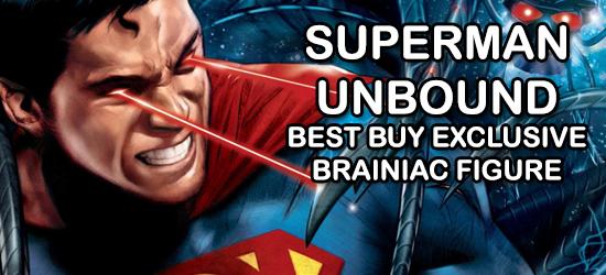 Superman Unbound, Brainiac, Action Figure, Figurine, Exclusive, Movie, DVD, Blu-Ray, Superhero, DCAU, Best Buy, Exclusive