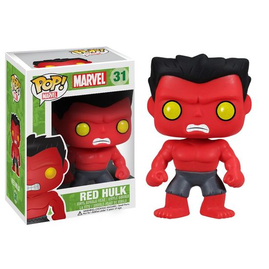 Hulk, Red Hulk, Marvel, Funko, Pop, Vinyl, Figure, Collectible, Tanya Tate, Comic Book, Toy, Action Figures