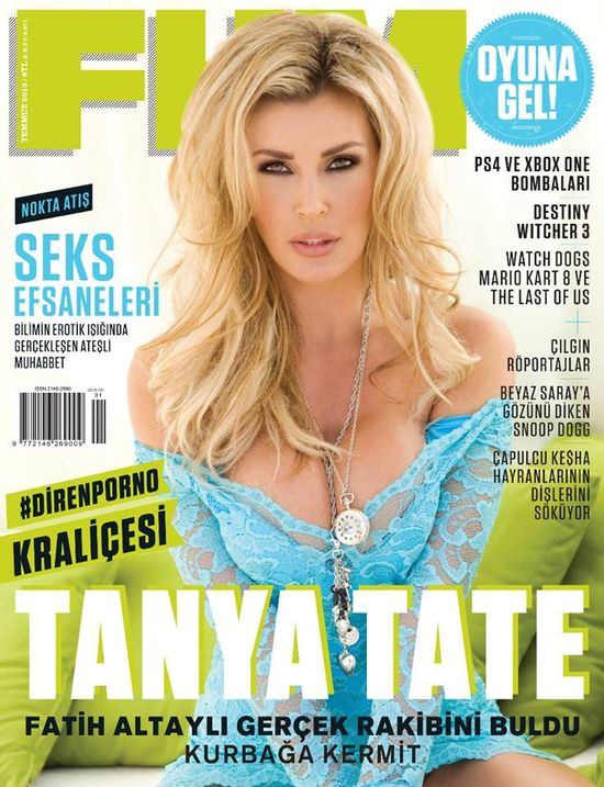 Tanya Tate, @TanyaTate, JustaLottaTanya, JLT, FHM, FHM Magazine, Cover, Sexy, geekdom, model, star, cosplayer, Turkey, July 2013