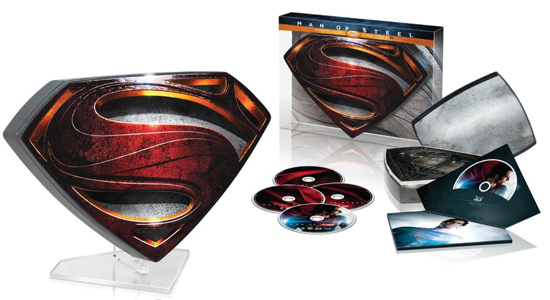 Superman, Man of Steel, Superhero, Collector's Edition, Limited, Collection, Box Set, Franchise, DC Comics, Warner Bros, Henry Cavill, Amy Adams, Michael Shannon, General Zod, Clark Kent, Zack Snyder, Loise Lane, 3D, Blu-ray, DVD, Home Media, Limited, Exclusive