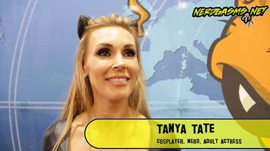 Tanya Tate, Cosplay, Nerdgasms, @TanyaTate, Catwoman, Sexy, Interview, Video, JustaLottaTanya, JLT, Fangirl, Sexy Geek Girl, San Diego Comic Con, SDCC