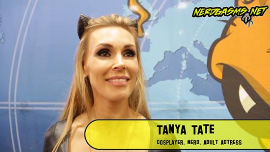 Tanya Tate, Cosplay, Nerdgasms, @TanyaTate, Catwoman, Sexy, Interview, Video, JustaLottaTanya, JLT, Fangirl, Sexy Geek Girl, San Diego Comic Con, SDCC