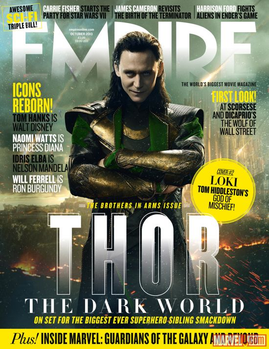 Thor, Loki, Empire, Magazine, Marvel,  Movie, Superhero, Comic Book, Variant, Exclusive, Hollywood Gone Geek, HGG, Four, Magazine Covers, Geek, Nerd, Collectible, Thor: The Dark World, Chris Hemsworth, Tom Hiddleston, Phase 2, Avengers, Marvel Cinematic Universe