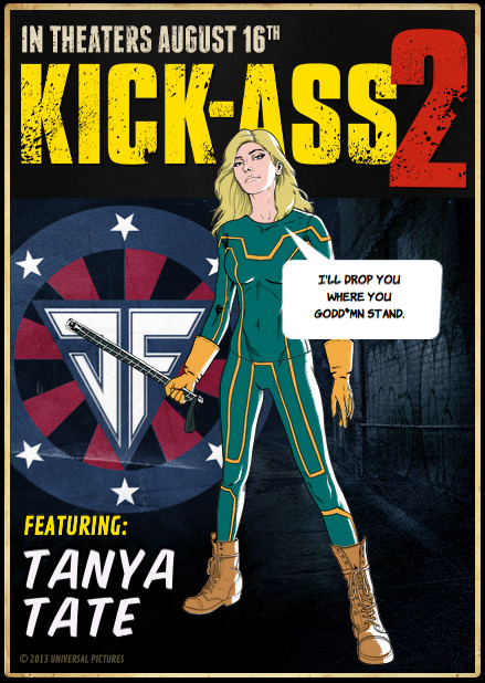 Tanya Tate, @TanyaTate, Kick Ass 2, Avatar Creator, KA2, Sexy Geek Girl, Superheroes, Movie, Summer Blockbuster, Sequel, Comic Book