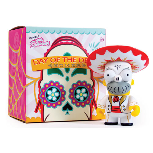 The Simpsons Homer Day of the Dead Mariachi Vinyl Figure Kid Robot Collectible