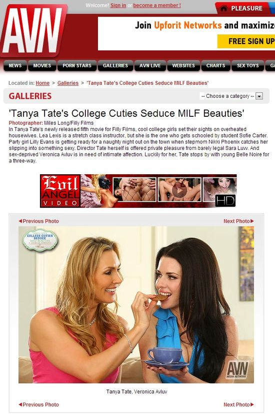 AVN - 'Tanya Tate's College Cuties Seduce MILF Beauties'