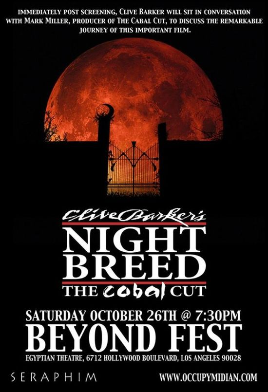 Nightbreed, Clive Barker, The Cabal Cut, Egyptian Theatre, Nightbreed: The Cabal Cut, Horror, Extended, Uncut, Hollywood, Beyond-Fest