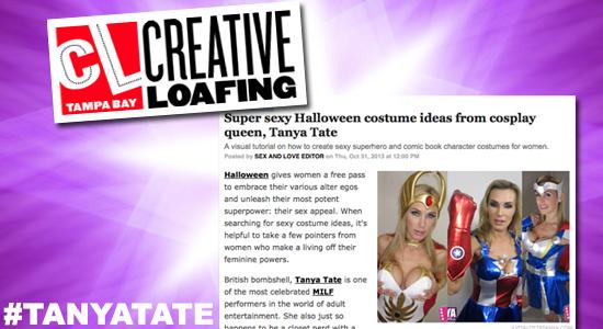 Tanya Tate, @TanyaTate, Creative Loafing, Cosplay Queen, Cosplay, Halloween, Superhero, Costumes, Sexy Geek, Geek Girl, Model, Actress, Feature, Profile