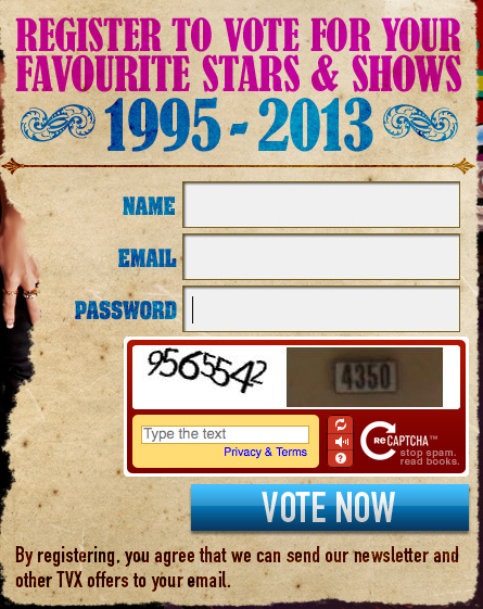 Star Factory, 2013, SHAFTA Awards, Voting Guide, Tanya Tate, Samantha Bentley, Best Amateur Series, Tanya Tate's Sex Tour of Ireland, Best MILF, Tanya Tate, Best New Starlet, Samantha Bentley, Best New Series, Weird Science XXX, Rise Superclub,  London, Television X, TVX Vote, Fan Voted