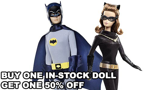 Entertainment Earth, Catwoman, Batman, Mattel, Doll, Figure, Sale, Buy One get One Half Off, %50 off, Discount, Dc Comics, Barbie, Entertainment, Collectible, Christmas