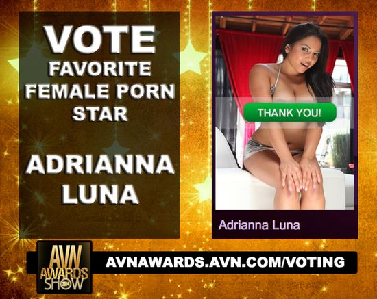 Adrianna Luna Pornstar Vote AVN Awards 2014 01
