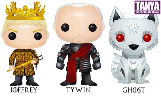 Ghost Joffrey Tywin Game of Thrones Funko Pop Series 3 GOT HBO