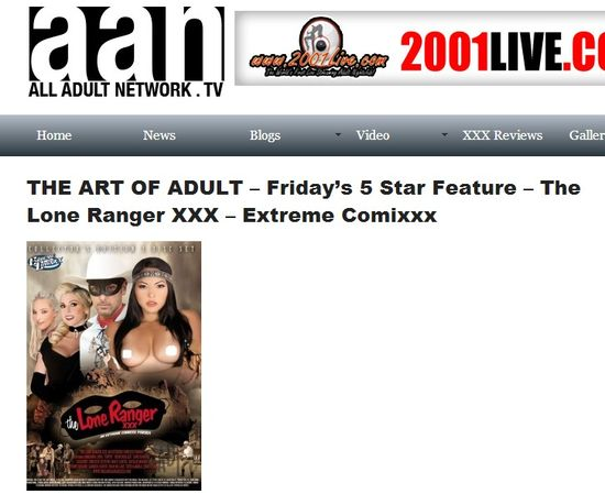 THE ART OF ADULT – Friday's 5 Star Feature – The Lone Ranger XXX – Extreme Comixxx