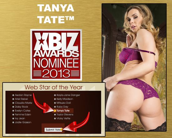 Xbiz 2014 Tanya Tate Webstar of the Year
