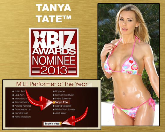 Xbiz 2014 Tanya Tate Milf of the Year