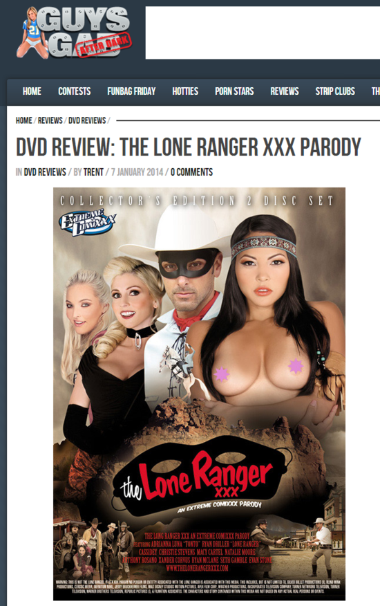 DVD Review  The Lone Ranger XXX Parody   Guys Gab After Dark