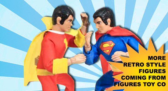 Figures Toy Co, Superman, Shazam, Aquaman, Green Arrow, The Joker, Batman, Robin, The Riddler, Super Powers, Dc Comics, WB, Mego, WGSH, World's Greatest Super Heroes, Entertainment, Collectibles, fist fighting action, Kung Fu Chop, 70's, Action Figures, Retro Toys