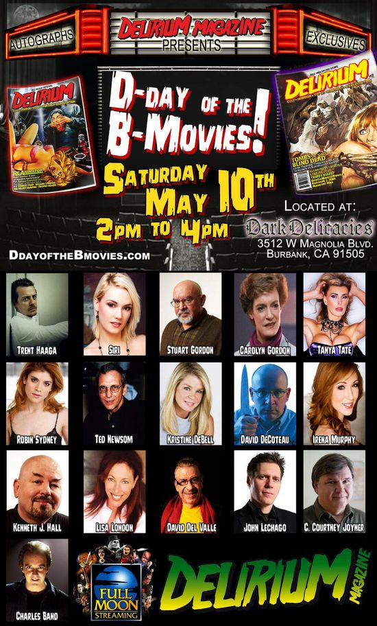 Tanya Tate Delirium Magazine D-Day of the B Movies Dark Delicacies Erotic Movie House
