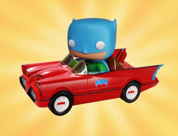 FUNKO POP Batmobile Toy Tokyo Exclusive Red Batman 01