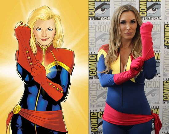 Tanya Tate San Diego Comic Con 2014 Captain Marvel Cosplay SDCC