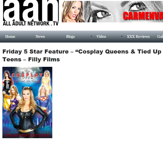 "Friday 5 Star Feature – ""Cosplay Queens   Tied Up Teens – Filly Films"