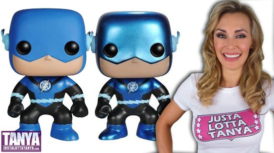 Tanya Tate, @TanyaTate, Blue Lantern, The Flash, Vinyl Figure, POP!, Funko, Exclusive, Fugitive Toys, Dc Comics, Blackest Knight. Review, Video, Unboxing