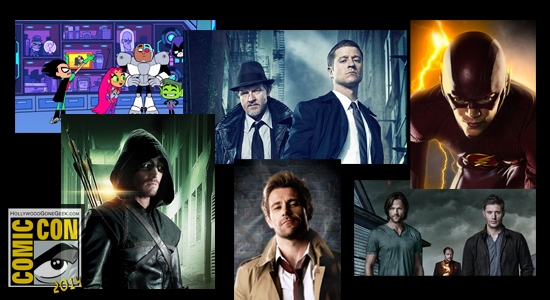 SDCC, Warner Bros, San Diego Comic-Con, Schedule, 2014, Arrow, The Flash, Supernatural, Constantine, iZombie, Teen Titans Go!, Children's Hospital, The Big Bang Theory, Mike Tyson Mysteries, The 100, The Originals, The Vampire Diaries, Person of Interest, Gotham, Supernatural, Hall H, The Following